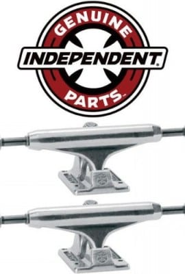 INDEPENDENT-Skateboard-Trucks-129mm-Silver-Raw-STAGE-11-775-in-PAIR-2-trucks-0