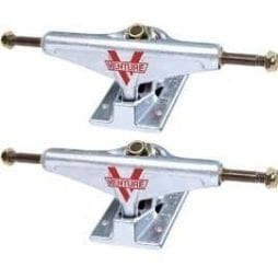 Venture Polished Low Skateboard Trucks – 5.25″ Hanger 8″ Axle (Set of 2)