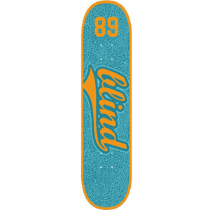 Blind Athletic Skin Deck, Teal/Orange, 7.75