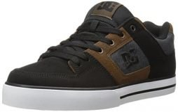 DC Men's Pure SE Skate Shoe,Black/Black/Brown,11.5 M US