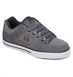 DC Men's Pure XE Skate Shoe,Grey/Grey/White,12 M US