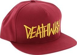 Deathwish Deathspray Adjustable Garnet Red/Yellow Skate Hat