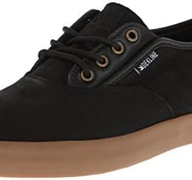 Dekline Men's Daily Skate Shoe,Black/Gum,9.5 M US
