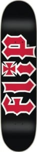 Flip HKD Skateboard Deck (7.75-Inch, Black/Red)