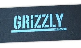 Grizzly-Stamp-Print-BlkBlue-Single-SHEET9X33-Skateboard-Grip-Tape-0