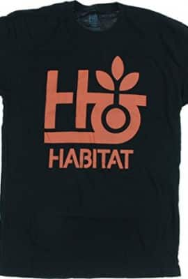 Habitat Pod Logo Black / Orange Large T-Shirt