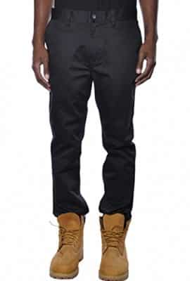 KR3W-Mens-K-Slim-Chino-Pants-Black-Size-34-0