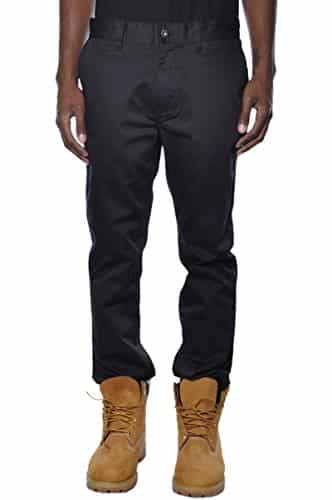 KR3W Men's K Slim Chino, Black, 34