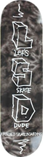 "Krooked Let's Skate Dude Monochrome Skateboard Deck - 8.18"" x 31.84"""