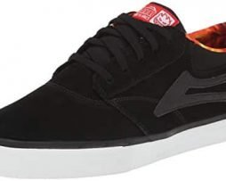 Lakai Men's Griffin Action Shoe,Black Suede,8 M US