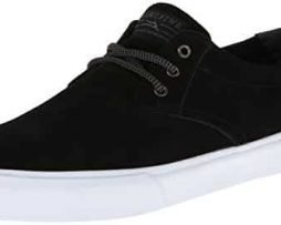 Lakai Men's MJ Action Sports,Black Suede,10 M US