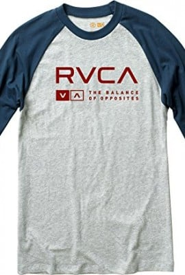 RVCA Men's Associate 3/4 Sleeve Shirt, Athletic Heather, X-Large