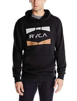 RVCA Men's Nation Hoodie, Black, Small