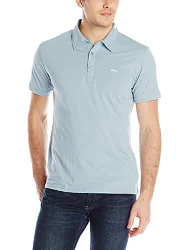 RVCA Men's Sure Thing Polo, Blue/Grey, X-Large