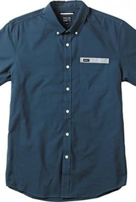 RVCA Men's That'll Do Contrast Shirt, Night Shadow, Large