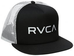 RVCA Men's The Trucker II Hat, Black/White, One Size