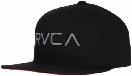 RVCA Men's Twill Snapback Hat, Black/Pavement, One Size