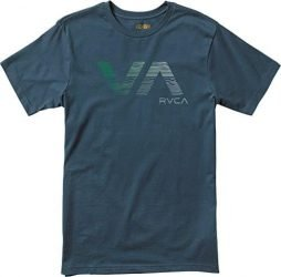 RVCA Men's Wavy VA T-Shirt, Midnight, Small