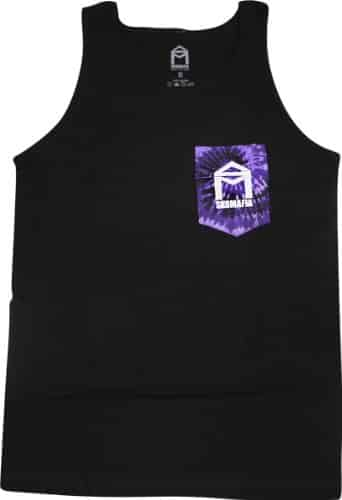 Sk8Mafia House Tie Tank Top [Medium] Black/Purple