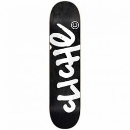 Cliche Black Handwritten 8.0 Skateboard Deck