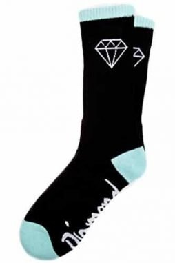 DIAMOND SUPPLY CO. SOCK BLACK & DIAMOND BLUE