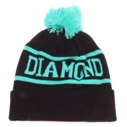 Diamond Supply Co Beanie Hats (Black and Green)