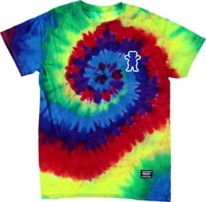 Grizzly Mini Outline Bear Short Sleeve L-Tie-Dye T-Shirt