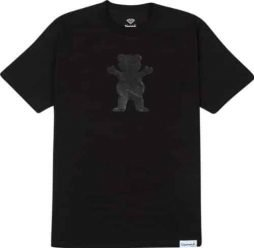 Grizzly Tonal Bear Cutout Short Sleeve S-Black T-Shirt