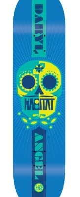 Habitat Angel Sugar Skull 2 Skate Deck, Multi-Color, 7.87-Inch/Small