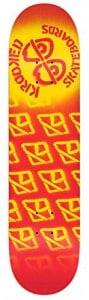 Krooked Diffused Lg 8.25 Red Skateboard Deck