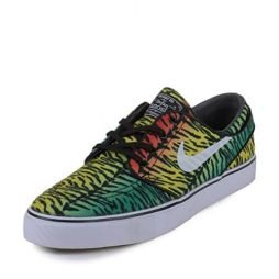 "Nike SB Zoom Stefan Janoski ""Tiger Stripe"" Pack Canvas Skateboard Shoe Size 10.5 Chilling Red/White-Lucid Green-Turbo Yellow"