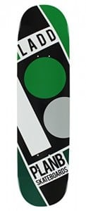 Plan B Ladd Slanted 7.87 Green/Black/White Skateboard Deck