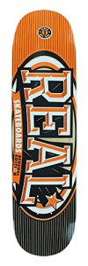 "Real Skateboards Renewal Stacked Orange Skateboard Deck - 7.75"" x 31.4"""