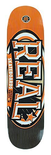 Real Skateboards Renewal Stacked Orange Skateboard Deck – 7.75″ x 31.4″