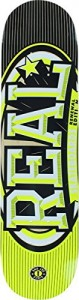 """Real Renewal Stacked Yellow Skateboard Deck - 7.56"""" x 31.38"""""""