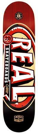 Real Team Logo Red Renewal MVP 3-D 8.0 Skateboard Deck