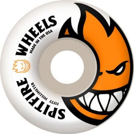 Spitfire Bighead Skateboard Wheel, White/Orange, 50mm