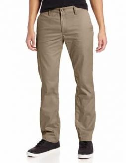 Volcom Men's Frickin Modern Fit Stretch Chino Pant, Khaki 2015, 34