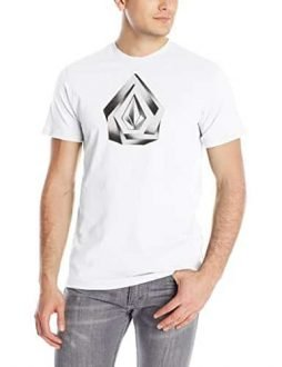 Volcom Men's Over Lap Short Sleeve T-Shirt, White, Medium
