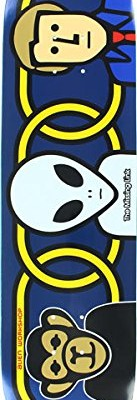 Alien Workshop Missing Link Foil SM Skateboard Deck, 8-Inch, Blue