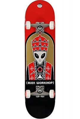 Alien Workshop Priest Complete Skateboard - 8.0 Red w/Reflex Trucks