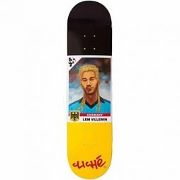 Cliche Lem Villemin Hair Cup R7 Skateboard Deck - Black/Yellow - 7.75