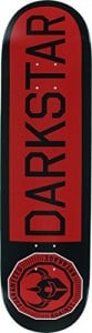 "Darkstar Timeworks Red / Black Skateboard Deck - 8.25"" x 31.5"""