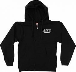 Baker Brand Logo Zip/Hooded XL-Black/White Sweatshirt