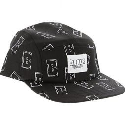 Baker Interstellar 5panel Adjustable Black Skate Hat