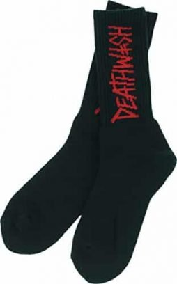 Deathwish Deathspray Black / Red Crew Socks