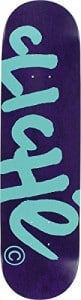 "Cliche Resin 7 Handwritten Purple / Teal Skateboard Deck - 7.75"" x 32.1"""