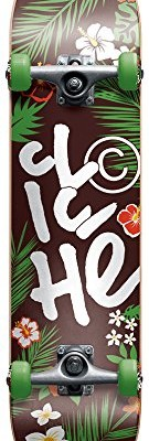 Cliche 10526194 Hanalei Complete Skateboards, FUL7.75, Green/Brown