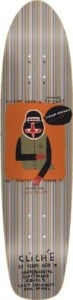 Cliche Childress Cruiser Skateboard Deck - 8.0 Fiberglass/Bambo