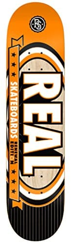 Real Renewal Select Md 7.75 Orange Skateboard Deck